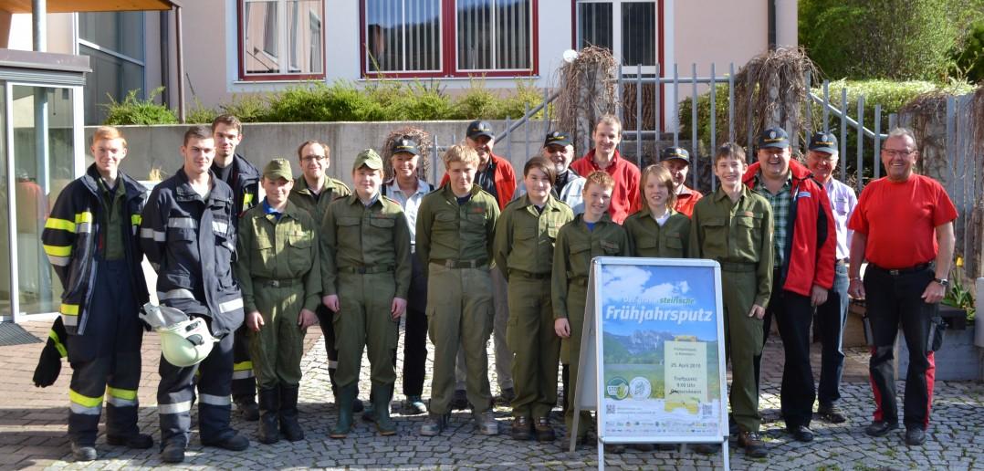 Frühjahrsputz 2015 mit der Feuerwehr Kammern und vielen freiwilligen Helfern