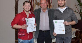 Bgm. Karl Dobnigg mit André Kaufmann und Mario Hoch