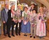 Gratulation und Ehrung für die Auszeichnung beim Landesblumenschmuckwettbewerb