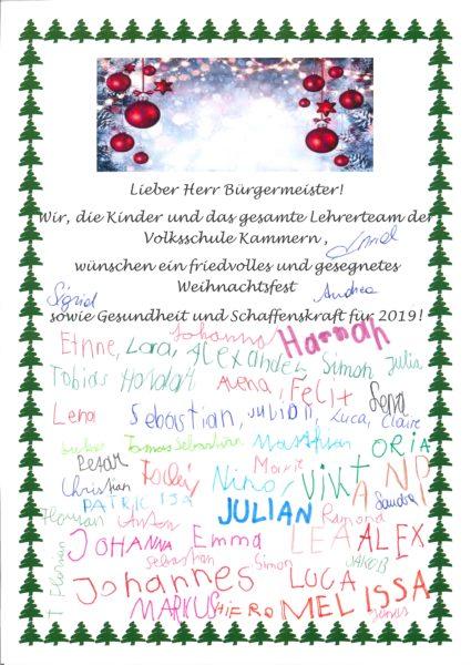 Weihnachtswünsche Für Kinder.Ganz Besondere Weihnachtswünsche An Bürgermeister Karl Dobnigg