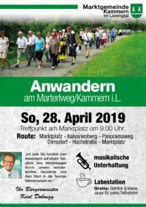 Flyer Anwander mit Wanderern auf dem Materlweg